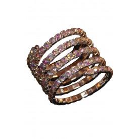 Браслет-змейка с крупными стразами АБ
